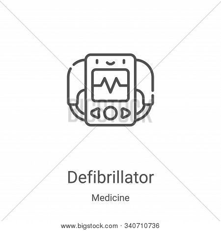 defibrillator icon isolated on white background from medicine collection. defibrillator icon trendy