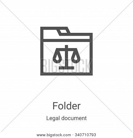 folder icon isolated on white background from legal document collection. folder icon trendy and mode