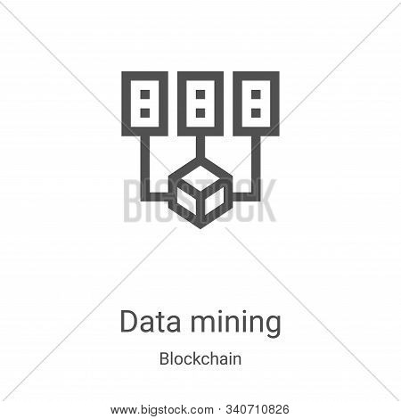 data mining icon isolated on white background from blockchain collection. data mining icon trendy an