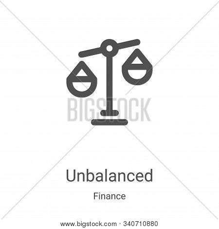 unbalanced icon isolated on white background from finance collection. unbalanced icon trendy and mod