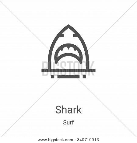 shark icon isolated on white background from surf collection. shark icon trendy and modern shark sym
