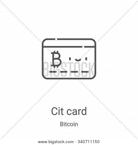 credit card icon isolated on white background from bitcoin collection. credit card icon trendy and m