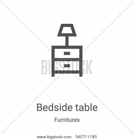 bedside table icon isolated on white background from furnitures collection. bedside table icon trend