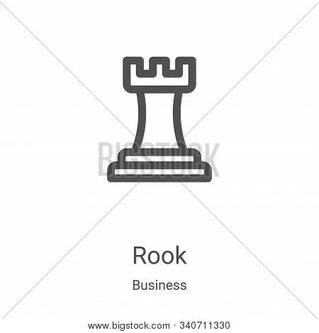 rook icon isolated on white background from business collection. rook icon trendy and modern rook sy