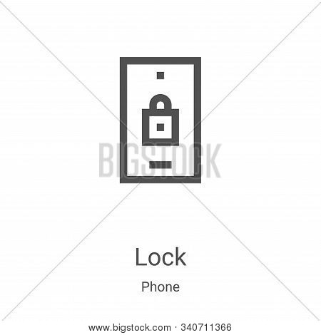 lock icon isolated on white background from phone collection. lock icon trendy and modern lock symbo