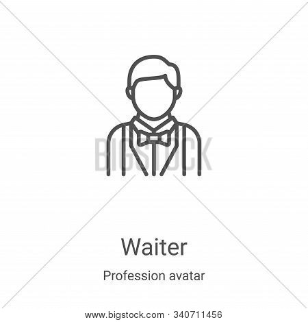 waiter icon isolated on white background from profession avatar collection. waiter icon trendy and m