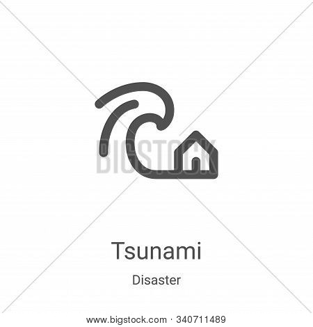 tsunami icon isolated on white background from disaster collection. tsunami icon trendy and modern t