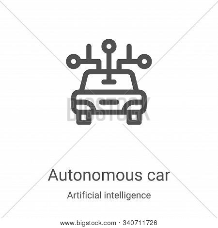 autonomous car icon isolated on white background from artificial intelligence collection. autonomous