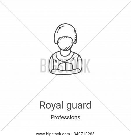 royal guard icon isolated on white background from professions collection. royal guard icon trendy a