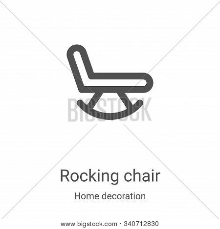 rocking chair icon isolated on white background from home decoration collection. rocking chair icon