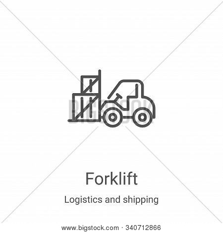 forklift icon isolated on white background from logistics and shipping collection. forklift icon tre