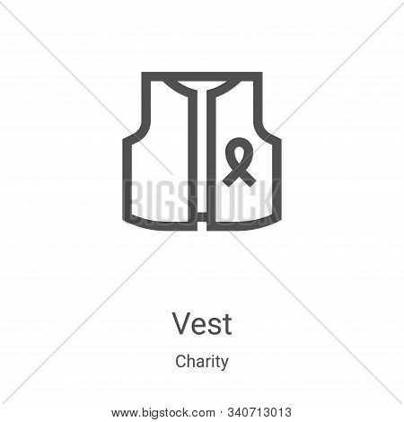 vest icon isolated on white background from charity collection. vest icon trendy and modern vest sym