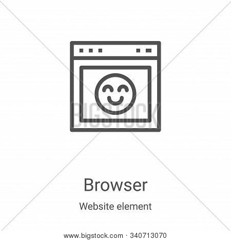 browser icon isolated on white background from website element collection. browser icon trendy and m