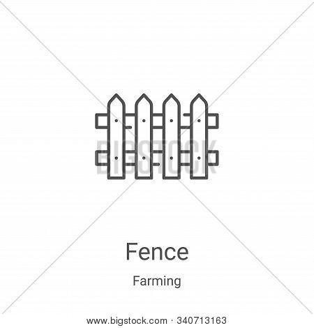 fence icon isolated on white background from farming collection. fence icon trendy and modern fence