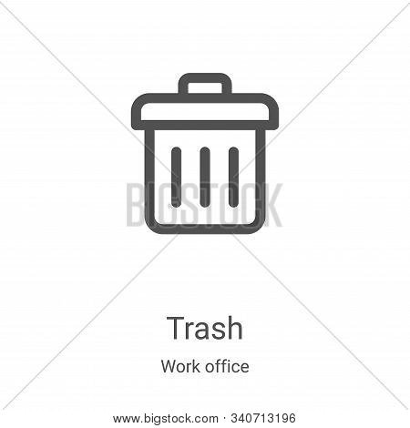 trash icon isolated on white background from work office collection. trash icon trendy and modern tr