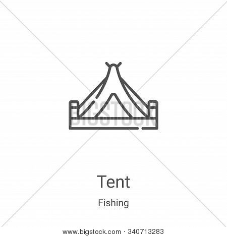 tent icon isolated on white background from fishing collection. tent icon trendy and modern tent sym
