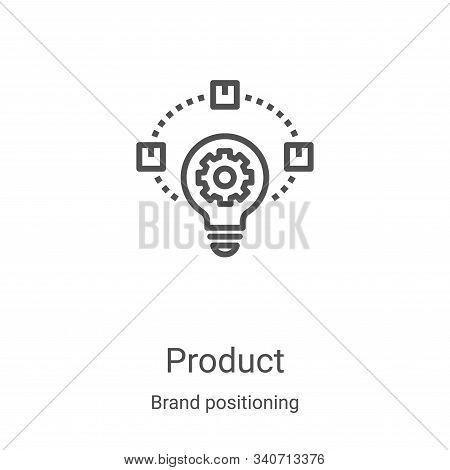 product icon isolated on white background from brand positioning collection. product icon trendy and