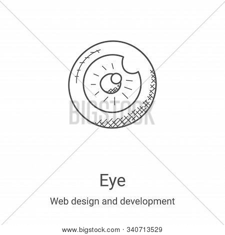 eye icon isolated on white background from web design and development collection. eye icon trendy an