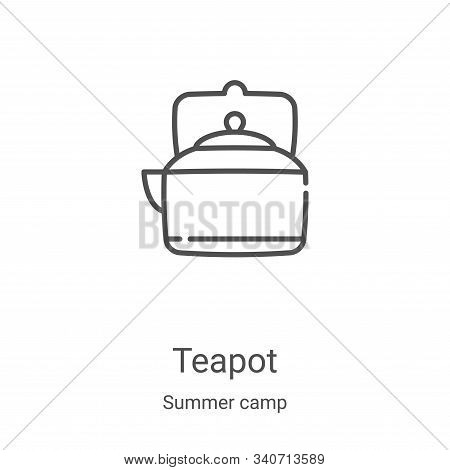 teapot icon isolated on white background from summer camp collection. teapot icon trendy and modern