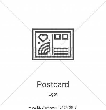postcard icon isolated on white background from lgbt collection. postcard icon trendy and modern pos