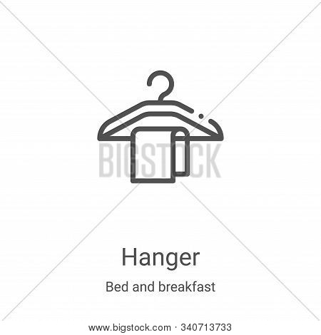 hanger icon isolated on white background from bed and breakfast collection. hanger icon trendy and m