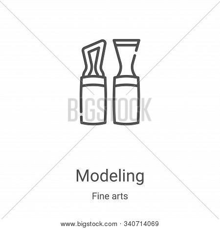 modeling icon isolated on white background from fine arts collection. modeling icon trendy and moder