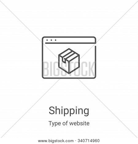 shipping icon isolated on white background from type of website collection. shipping icon trendy and