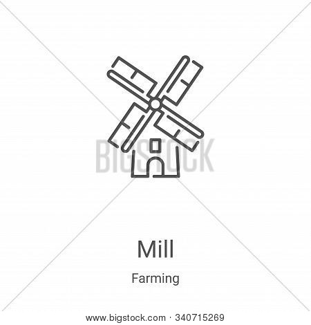 mill icon isolated on white background from farming collection. mill icon trendy and modern mill sym