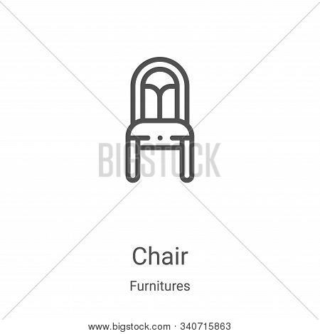 chair icon isolated on white background from furnitures collection. chair icon trendy and modern cha