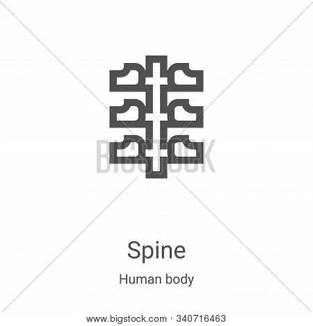 spine icon isolated on white background from human body collection. spine icon trendy and modern spi