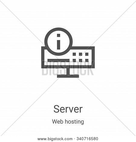 server icon isolated on white background from web hosting collection. server icon trendy and modern