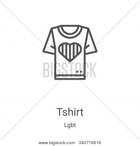 tshirt icon isolated on white background from lgbt collection. tshirt icon trendy and modern tshirt