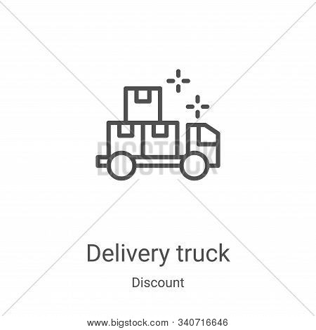 delivery truck icon isolated on white background from discount collection. delivery truck icon trend