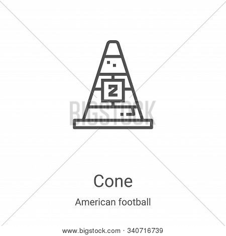 cone icon isolated on white background from american football collection. cone icon trendy and moder