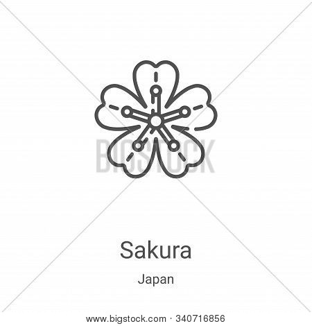 sakura icon isolated on white background from japan collection. sakura icon trendy and modern sakura