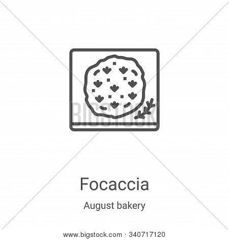 focaccia icon isolated on white background from august bakery collection. focaccia icon trendy and m