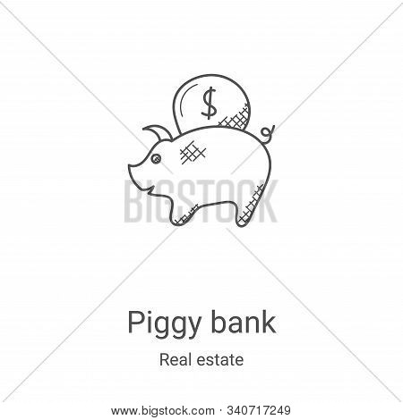 piggy bank icon isolated on white background from real estate collection. piggy bank icon trendy and