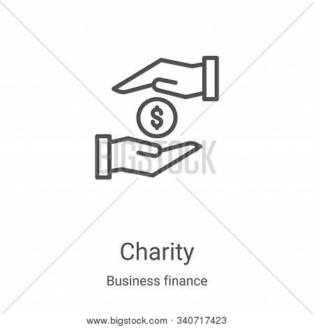 charity icon isolated on white background from business finance collection. charity icon trendy and
