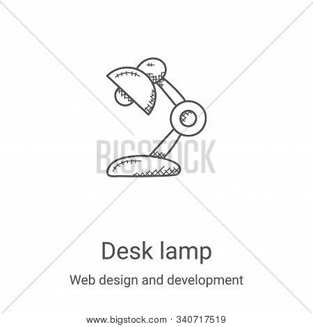 desk lamp icon isolated on white background from web design and development collection. desk lamp ic