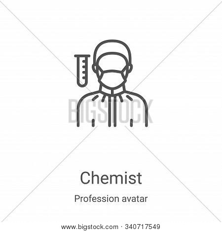 chemist icon isolated on white background from profession avatar collection. chemist icon trendy and