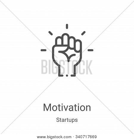motivation icon isolated on white background from startups collection. motivation icon trendy and mo