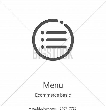 menu icon isolated on white background from ecommerce basic collection. menu icon trendy and modern