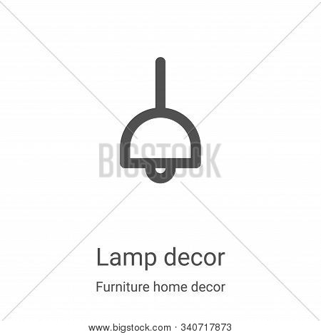lamp decor icon isolated on white background from furniture home decor collection. lamp decor icon t