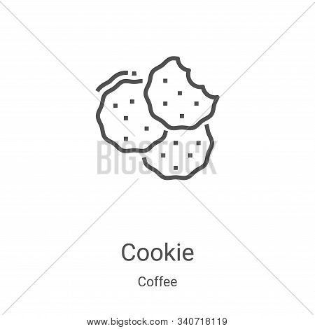 cookie icon isolated on white background from coffee collection. cookie icon trendy and modern cooki
