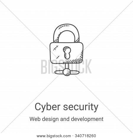 cyber security icon isolated on white background from web design and development collection. cyber s