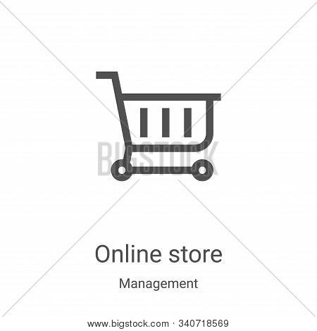 online store icon isolated on white background from management collection. online store icon trendy