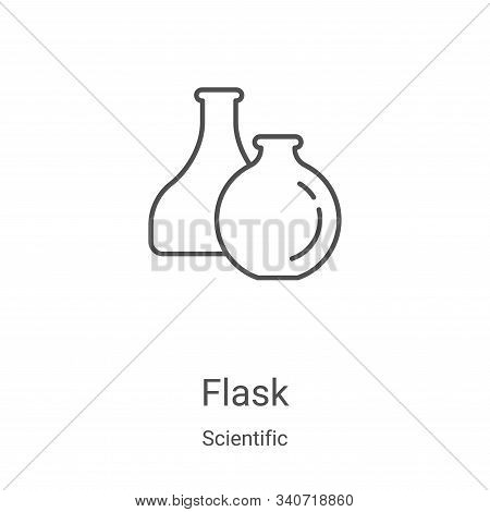 flask icon isolated on white background from scientific collection. flask icon trendy and modern fla
