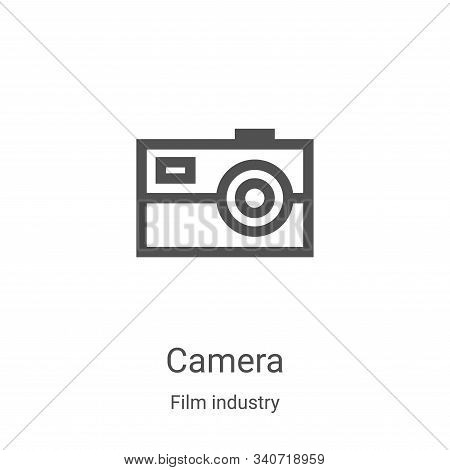 camera icon isolated on white background from film industry collection. camera icon trendy and moder