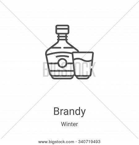 brandy icon isolated on white background from winter collection. brandy icon trendy and modern brand