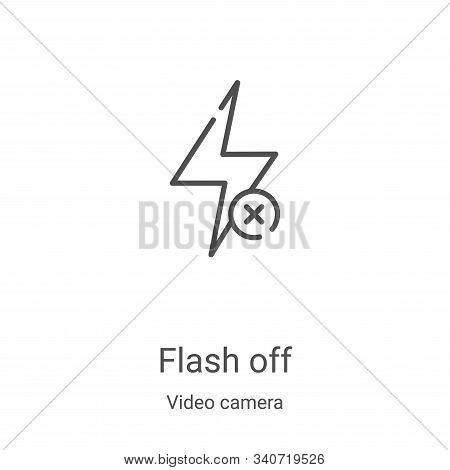 flash off icon isolated on white background from video camera collection. flash off icon trendy and